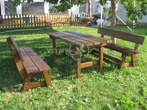"""שולחן קק""""ל ושני ספסלים"""