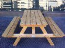 """שולחן קק""""ל עץ קרולינה עצים 2.8*14"""