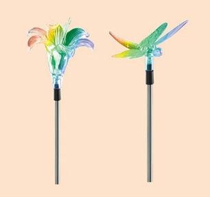 תאורה סולארית לד סאן לייט פרח ופרפר
