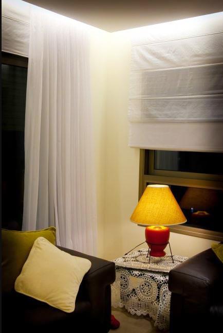 תאורה לסלון בסגנון רומנטי