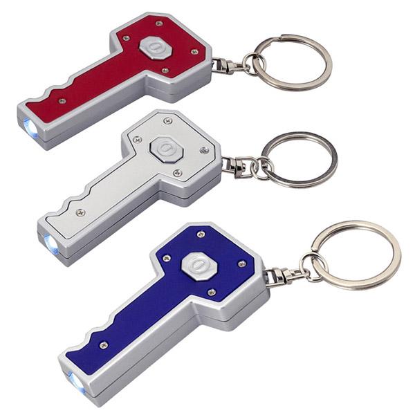 מחזיק מפתחות תאורת לד בעיצוב מפתח