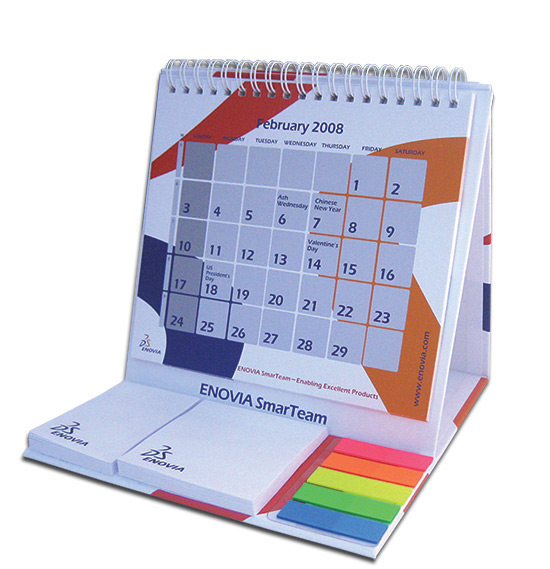 לוח שנה משולב דיגלונים ודבקיות
