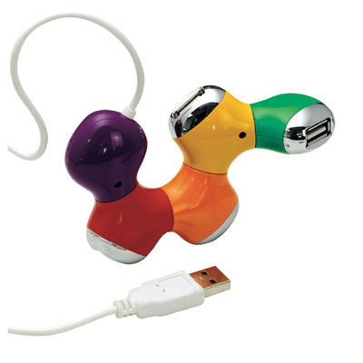רכזת USB צבעונית מפרקית