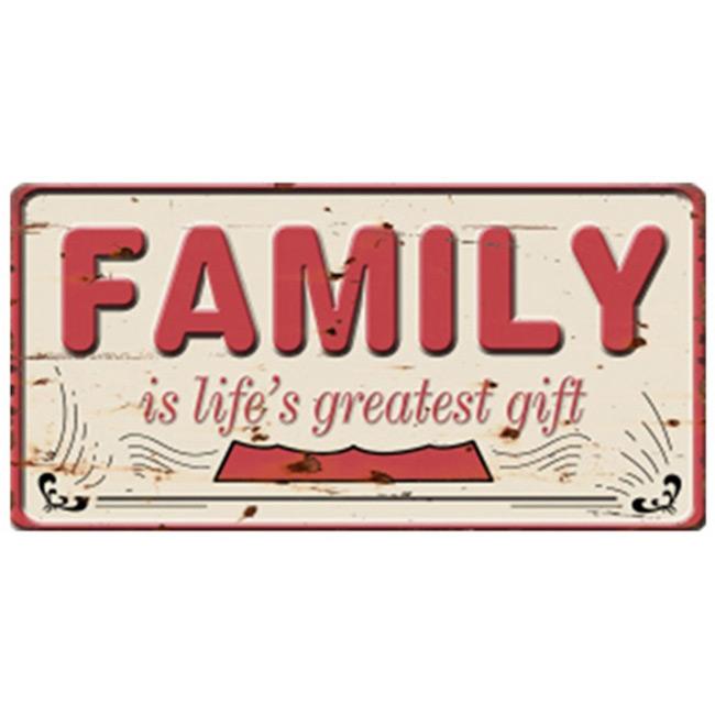שלט מתכת FAMILY