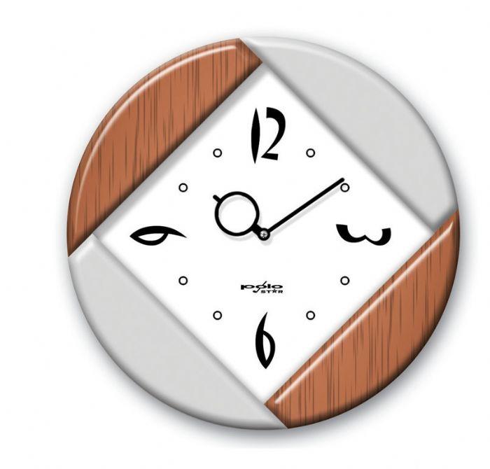 שעון עגול שחור או כסוף