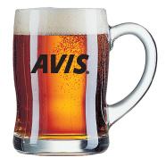 סרפן - כוס בירה גל עם ידית  450ml