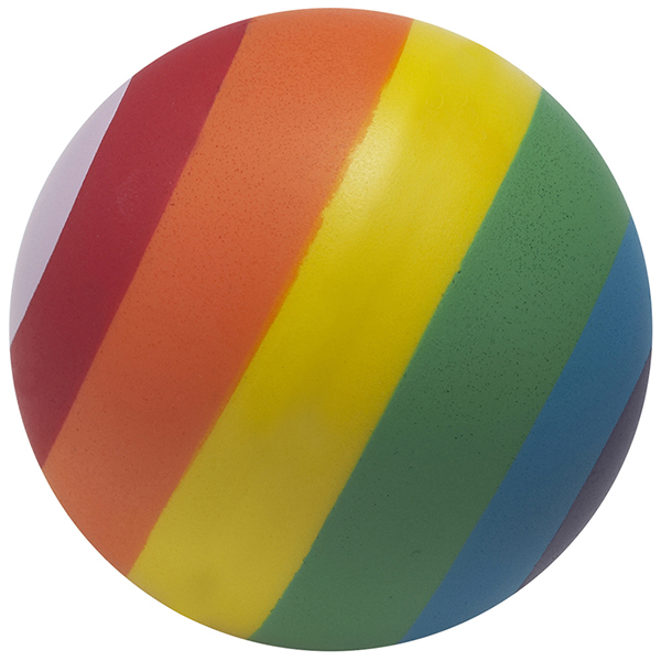 כדור גומי בצבעי הקשת