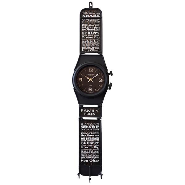 """""""החיים הם מסע"""" שעון קיר בעיצוב שעון יד"""