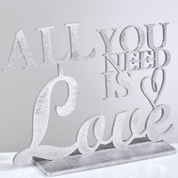"""All you Need"" שלט אלומיניום אומנותי מעוצב"