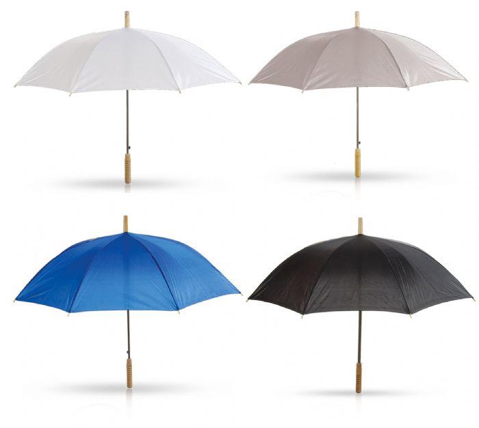 מטרייה עם מוט עץ 23 אינץ'