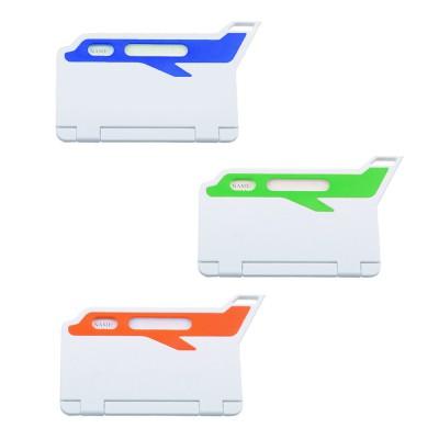 תג שם למזוודה מעוצב בצורת מטוס