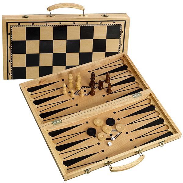 סט ששבש/שחמט/דמקה מהודר עם ידיות