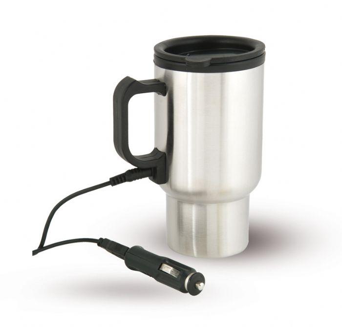 כוס תרמית נירוסטה עם חיבור למצת הרכב