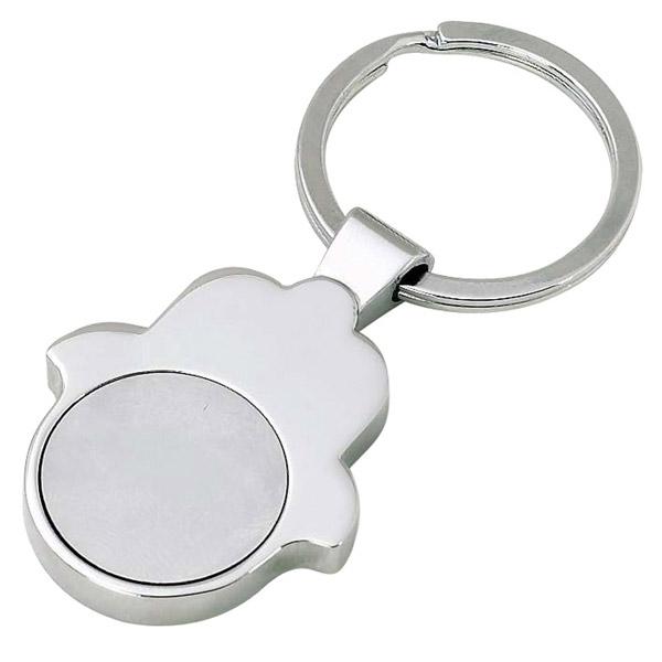 """מחזיק מפתחות """"חמסה"""" מטבע נשלף"""
