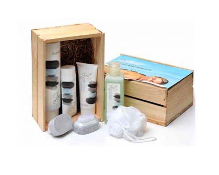 אריזת עץ ממותגת למוצרי טיפוח