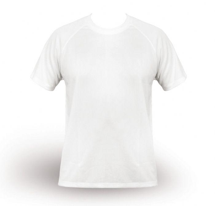חולצת T מנדפת זיעה - לבן