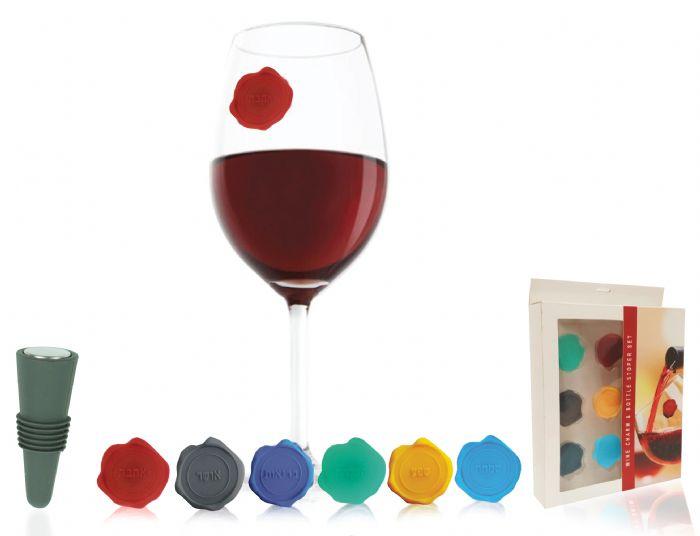 חותמות לכוסות יין