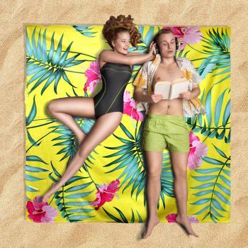 מגבת חוף זוגית ממתוגת