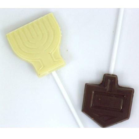 שוקולד חנוכיה או סביבון על מקל