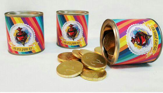 פחית מטבעות שוקולד