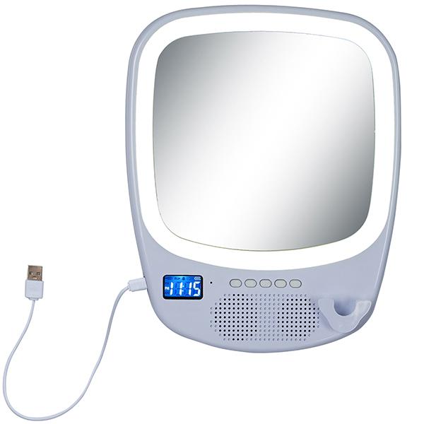 רמקול Bluetooth משולב עם דיבורית, מראה, תאורת לדים הקפית