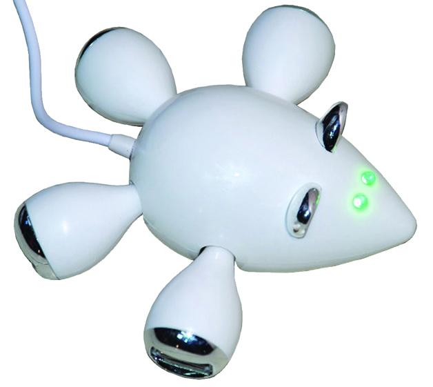 מפצל USB בצורת עכבר
