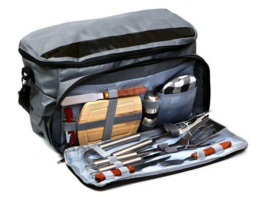 תיק צידנית עם כלי מנגל ופיקניק