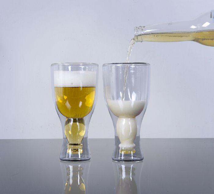 כוס בירה, בקבוק הפוך בתוך כוס