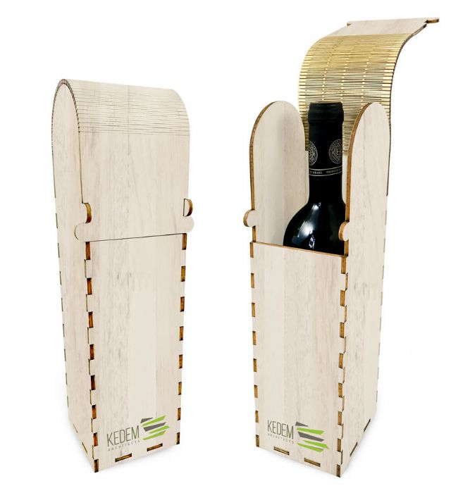 מארז יין מעץ