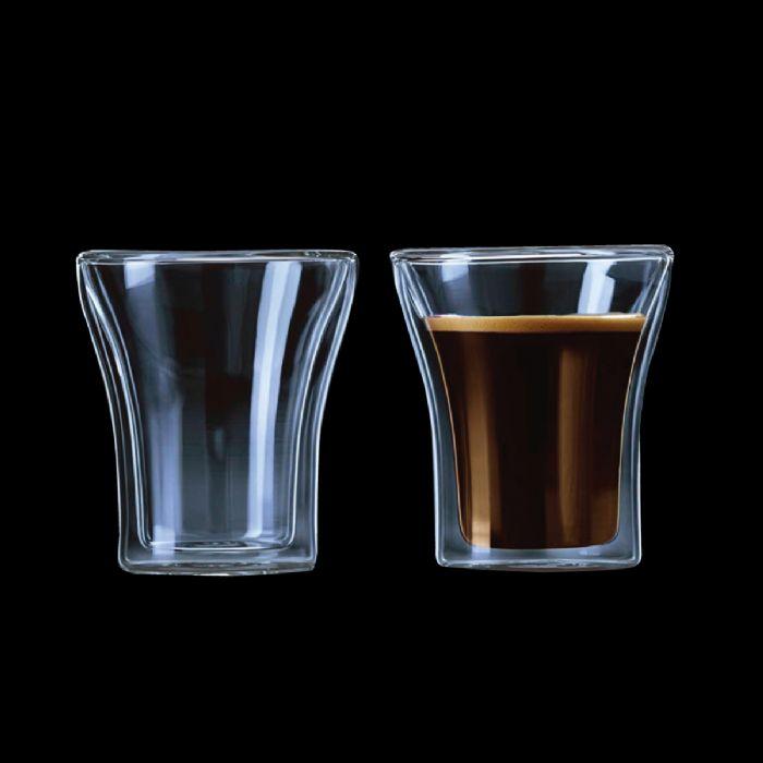 זוג כוסות זכוכית דופן כפולה – פרו