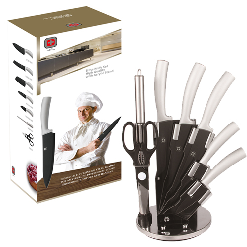 סט 8 חלקים 5 סכיני שף