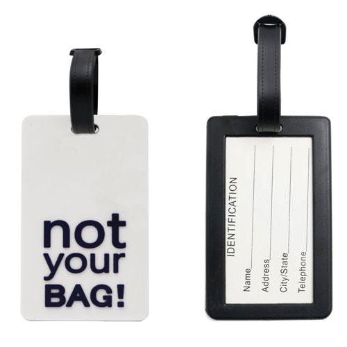 תג מזוודה נשלף העשוי מסיליקון NOT YOUR BAG