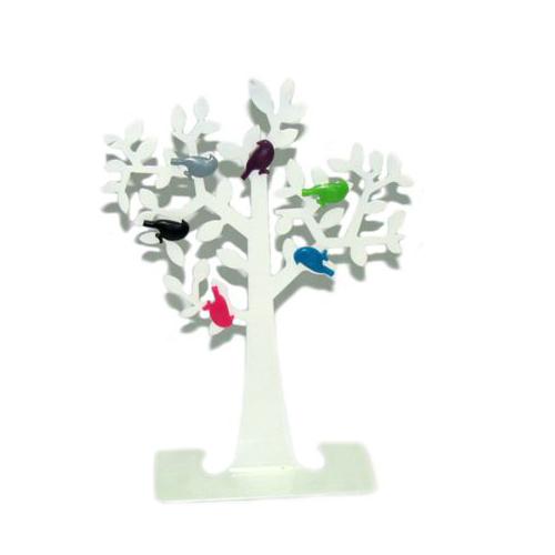 עץ ממו מתכת עם ציפורים / מגנטים