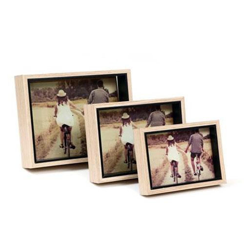 סט 3 מסגרות עץ לתמונות משפחה