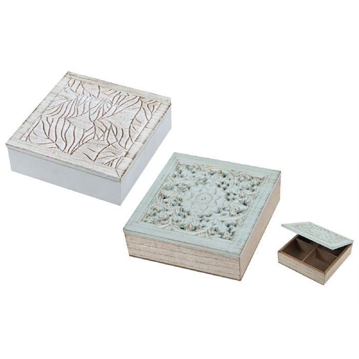 קופסת עץ עם עיטורים – ערבסק