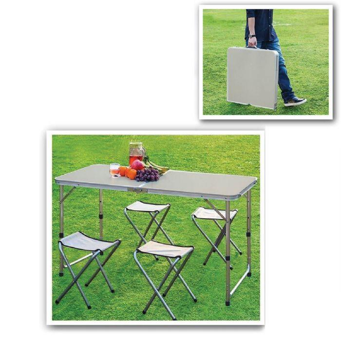 שולחן מתקפל עם כיסאות – סקוייה