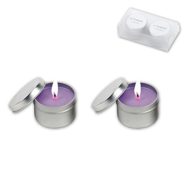 סנדאי- זוג נרות ריחניים בקופסת מפח