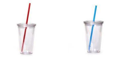כוס רב פעמית עם קש