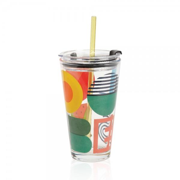 קוסמו - כוס זכוכית שקופה