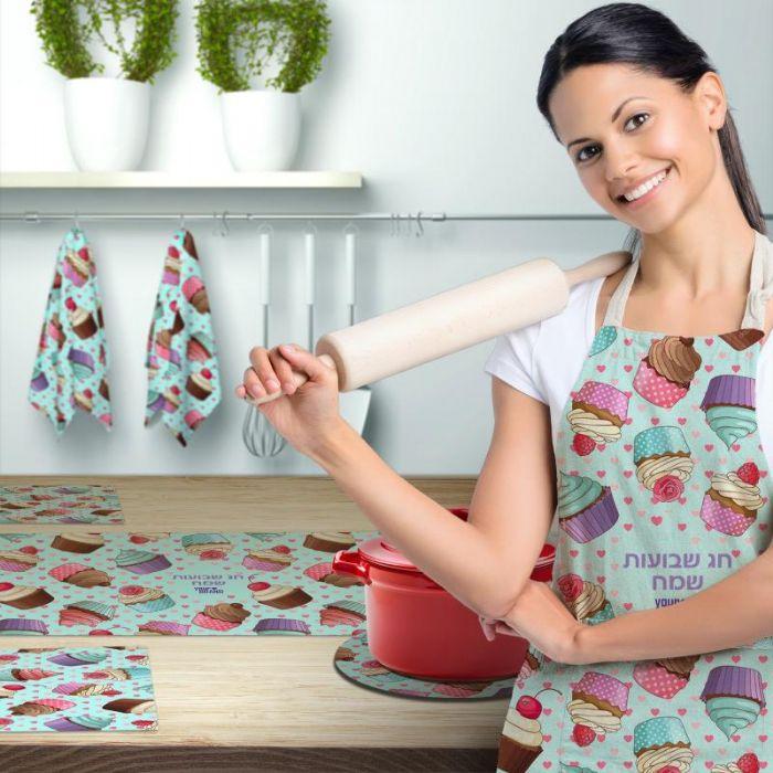 סט למטבח ייצור כחול לבן!