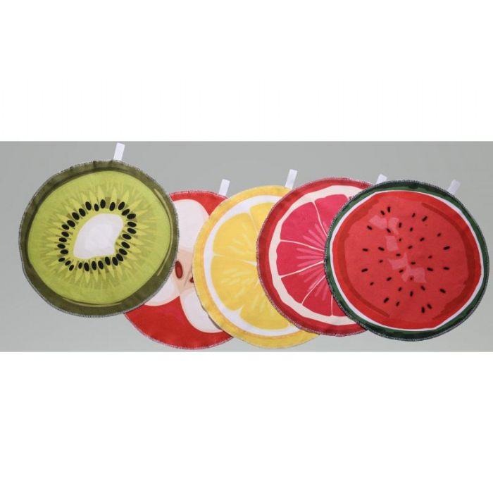 סט 3 מגבות מטבח עגולת בצורת פירות