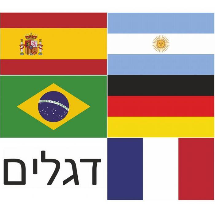 דגלי מדינות בגודל A4