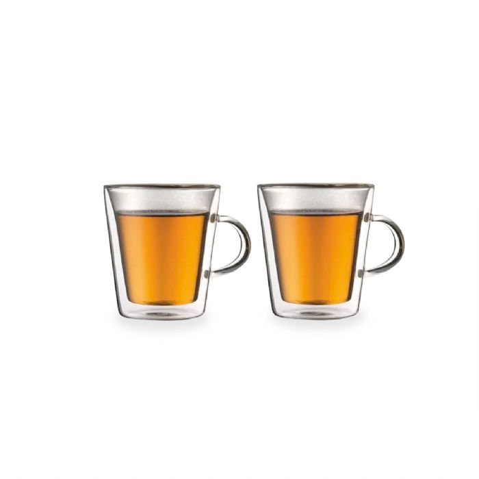 זוג כוסות עם דופן כפולה וידית - הונדורס