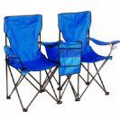 זוג כיסאות חוף וצידנית