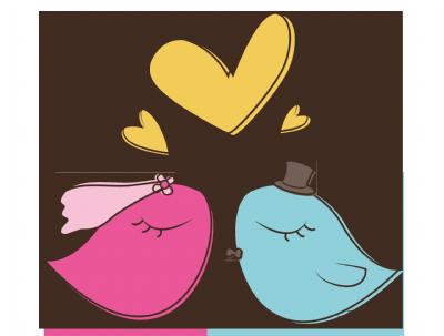 לוגו ציפורים חתן כלה