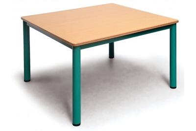 שולחן גן מתכת מרובע