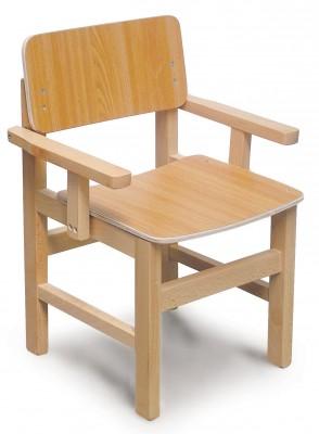 כסא עץ עם ידיות