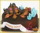 Starcraft cake - עוגת משחק מחשב