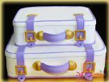 עוגת חתונה בצורה של מזוודות לזוג צעיר וחמוד - Luggage wedding cake for a charming young couple