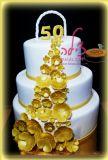 עוגת לחגיגות 50 שנות נשואין - 50th wedding anniversary cake